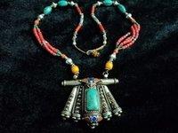 Tibetan Nepali Ethnic Tribal Turquoise / Coral Handmade Necklace