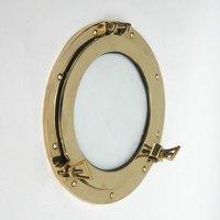 "12"" Brass Porthole Mirror"