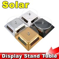 Rotating Solar Display Stand Tables