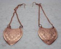 Copper Eaching Earrings