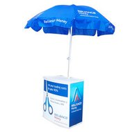 Promo Table With Umbrella