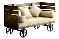 Metal Wood Sofa