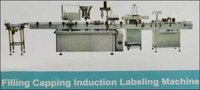 Filling Caping Induction Labeling Machine