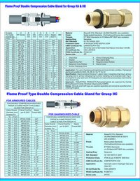 Flame Proof Double Compression Cable Gland For Group IIA & IIB