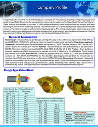 Flange Type Cable Glands