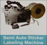 Semi Auto Sticker Labeling Machine