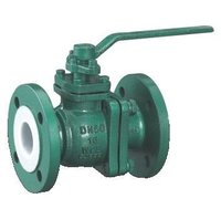 Pfa Fep Lined Ball Valve
