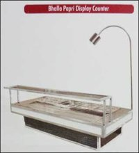 Bhalla Papri Display Counter (Steel And Wooden)