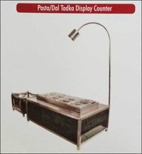 Pasta And Dal Tadka Display Counter (Steel And Wooden)