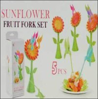 Sunflower Toothpick Stand With 4 Sticks