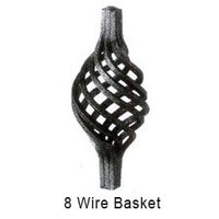 8 Wire Wrought Iron Baskets