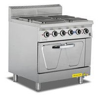 Electric 4 Hot Plate Range With Oven