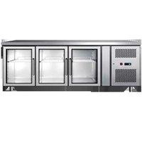 3 Glass Door Under Counter Refrigerator