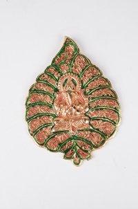 Wall Hanging Color Leaf Ganesh
