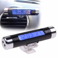 Elegant LCD Auto Car Interior Dashboard Clock With Digital Temperature Display