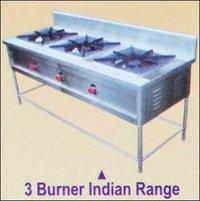3 Burner Indian Gas Range