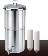 Stainless Steel Gravity Water Filter With Ceramic Candles