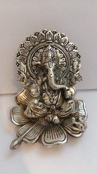 Ganesh Sitting On Big Flower.