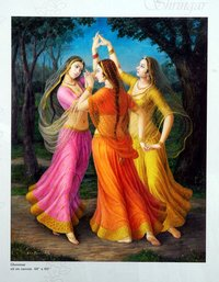 Ghoomar Oil Paintings On Canvas