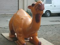Fabric And Stuffed Leather Camel Toy