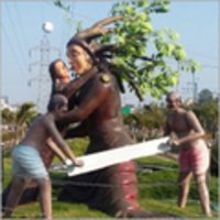 FRP Park Statue