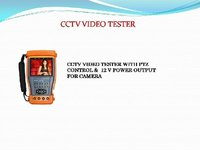 Cctv Audio And Video Tester