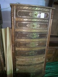 Wooden Carved Drawers Cabinet