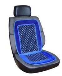 Car Wooden Bead Seat Cushion With Blue Velvet
