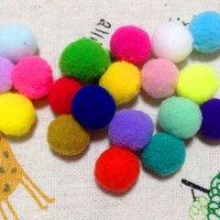 "1"" Assorted Acrylic Craft Pom Poms"
