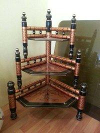 Handicraft Wooden Corner Shelf