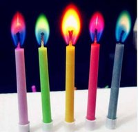 Colorful Flame Pillar Birthday Candles