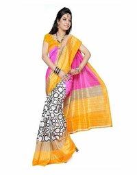 Economical Bhagalpuri Silk Printed Sarees