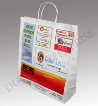 Four Color White Kraft Paper Bags