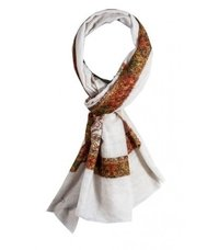 Winter Wear White Art Shawl