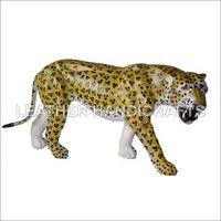 Leather Stuffed Leopard