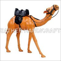 Leather Stuffed Standing Camel