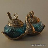 Glass Double Sugar Pot