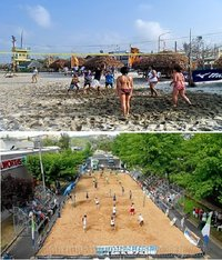 Sand For Artificial Beach Volley Court