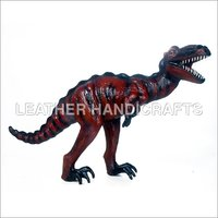 Stuffed Leather Dinosaur Toy