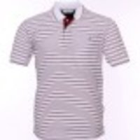 White T-Shirt With Maroon Lining