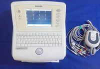 Philips Page White Trim Ll Ecg Machine With 12 Lead Ecg Cam With Aligator Clips