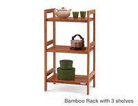 Bamboo Rack With 3 Shelves