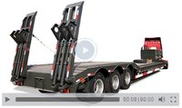13m-16m Flatbed Extendable Low Bed Trailer with Steering Axle