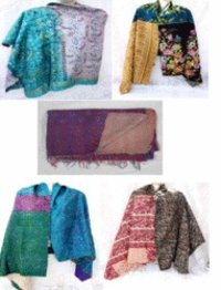 Silk Kantha Reversible Shawls