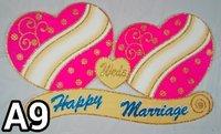 Decorative Thermocol Jalebi Bai Style Hearts (A9)
