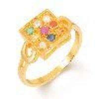 Navratna Gold Gemstone Ring