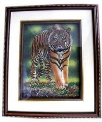3-D Tiger Gem Stone Painting