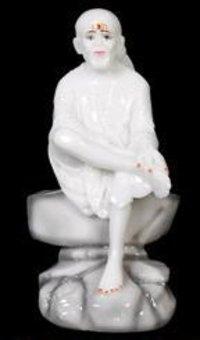 Sai Baba Pearl White Idols