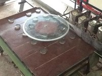 Round Glass Kanch Table Top Edging Beveling Half Round Og All In 1 Machine