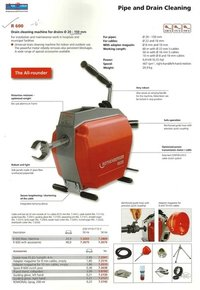 Commercial Drain Pipe Cleaning Machine